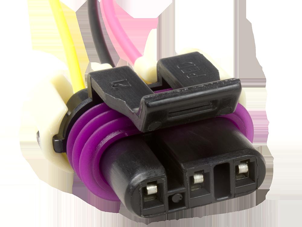 GM Knock Sensor Connector Pigtail 3 Foot TPI 85-89 Detonation Sensor White Wire