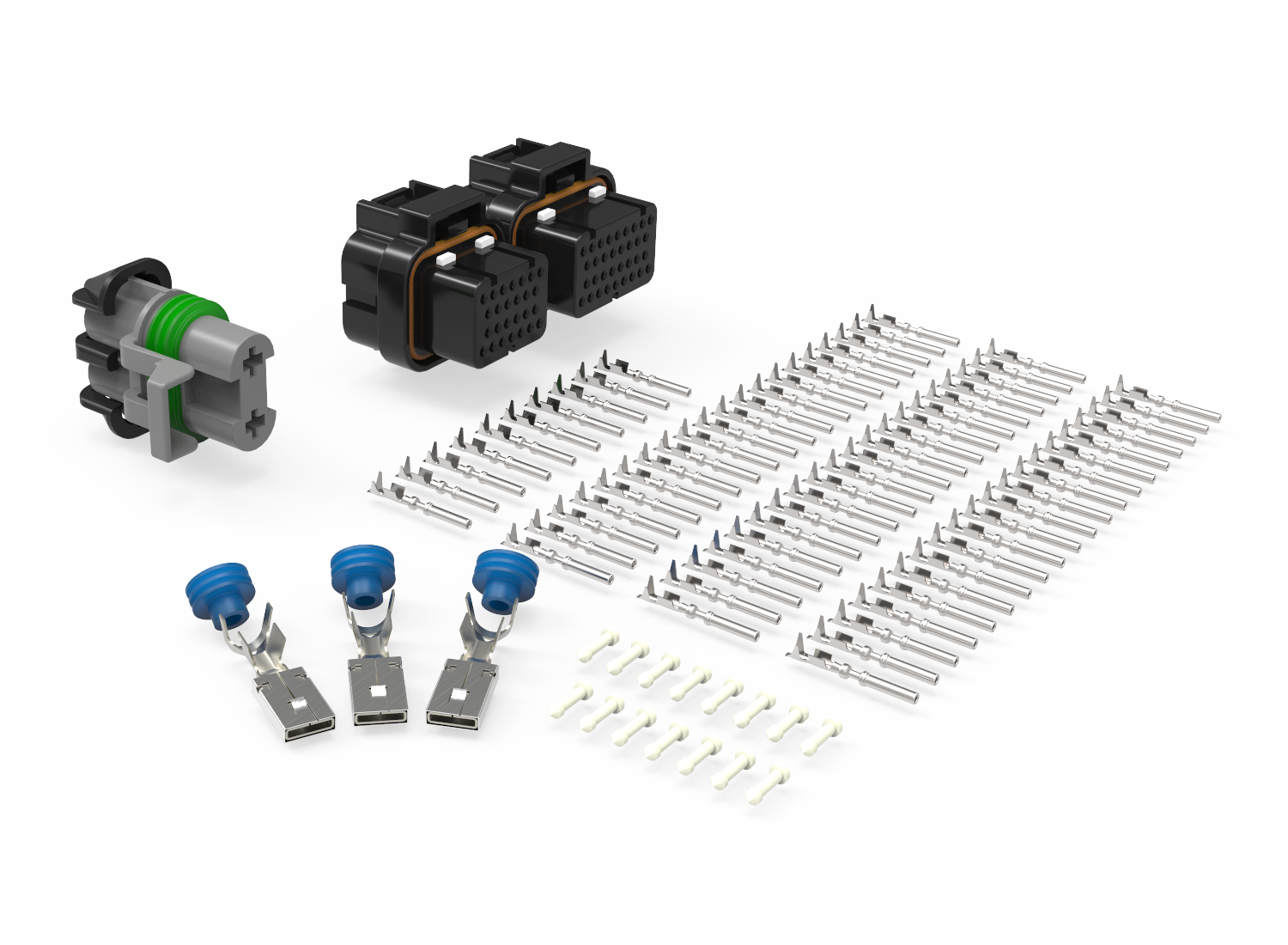 Ecu Connector Kit For Holley Efi Hp Connection Llc Ford Wiring Terminal Parts To Build Your Own Assemblies