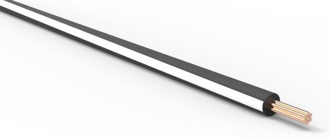 20ga automotive txl wire - black w   white stripe