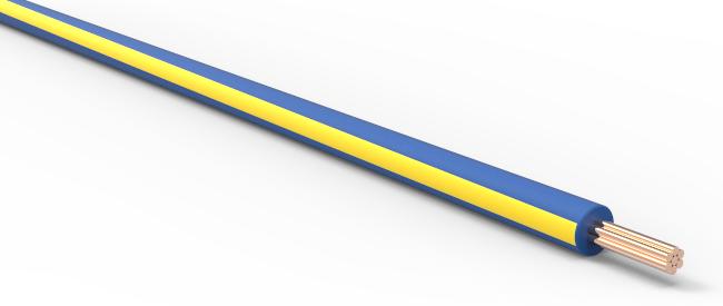 TXL Automotive Wire 20 AWG YELLOW w// BLUE Stripe Bulk 25 ft Primary Copper