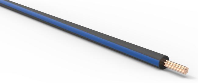 TXL Automotive Wire 20 AWG BLACK w/ BLUE Stripe Bulk 50 ft Primary ...
